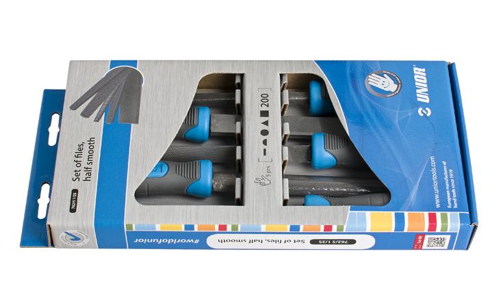 UNIOR VIJLENSET762/5-1/2S-200MM 5D Gereedschap Set's  bij Houthandel Jan Sok