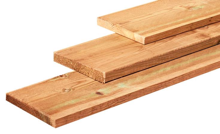 20x200mm FB geimpregneerd Tuinhout geimpregneerd Planken  bij Houthandel Jan Sok