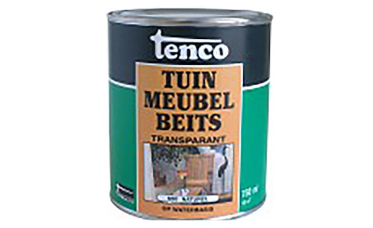 TENCO TUINMEUBELBEITS WATERBASIS NATUREL 0,75 L. Verf/Beitsen Tenco beits  bij Houthandel Jan Sok