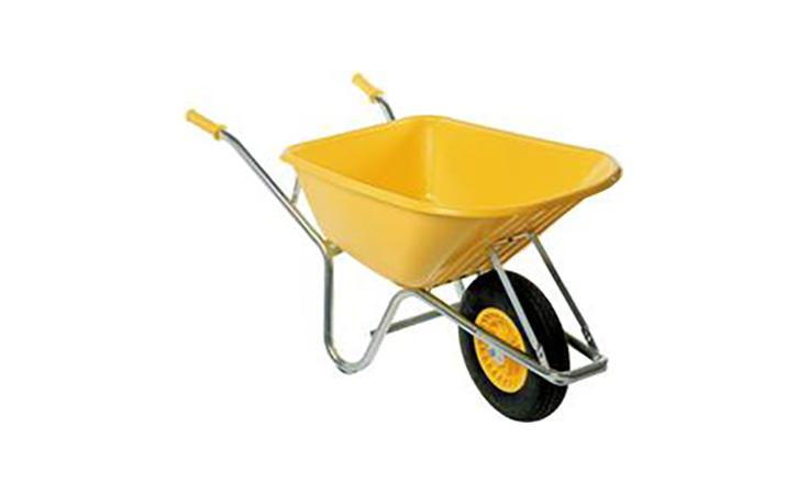 Kruiwagen Fort, 100L, -straatmakers- geel Tuin Gereedschap Kruiwagens  bij Houthandel Jan Sok