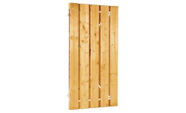 Plankendeur grenen op stalen frame Schuttingen / Hekken Deuren  bij Houthandel Jan Sok