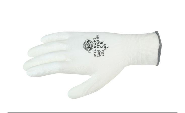 HANDSCHOEN PU-SOFT WIT MT Werk kleding / Persoonlijke veiligheid Handschoenen  bij Houthandel Jan Sok