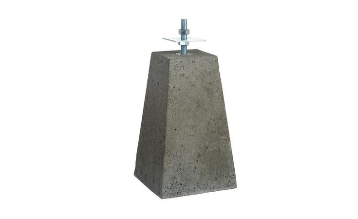 Betonpoer 24 x 15 x 40 cm, met verstelbare plaat, grijs. Opsluitbanden / Betonpoeren Betonpoeren  bij Houthandel Jan Sok