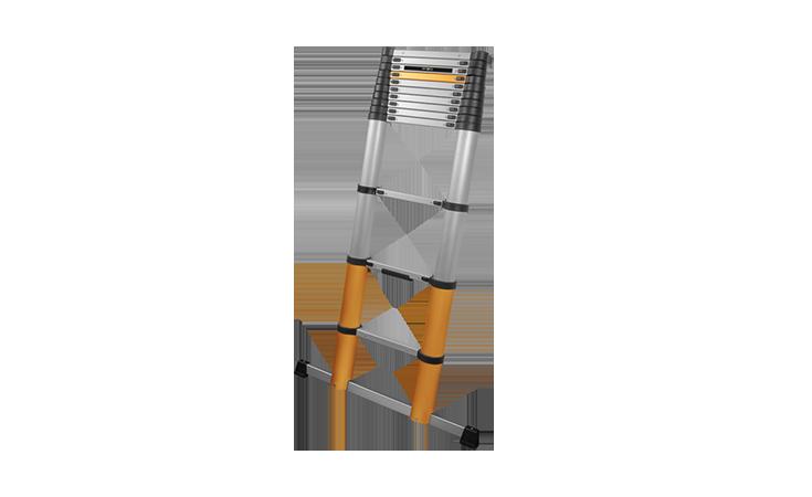 GIRAFFE AIR TELESCOPISCHE LADDER 3,20 MTR.  INCLUSIEF STABILISATIEBALK EN 131-6:2019 / TÜV ''BAUART'' GEKEURD Gereedschap Ladders  bij Houthandel Jan Sok