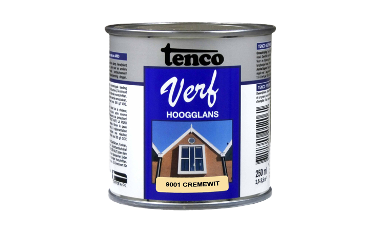 TENCOVERF DEKKEND HOOGGLANS CREMEWIT Verf/Beitsen Tenco verf  bij Houthandel Jan Sok