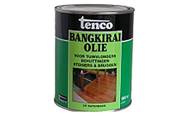 TENCO BANGKIRAI OLIE WATERBASIS Verf/Beitsen Tenco beits  bij Houthandel Jan Sok