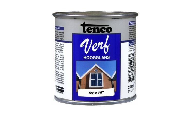 TENCOVERF DEKKEND HOOGGLANS WIT Verf/Beitsen Tenco verf  bij Houthandel Jan Sok